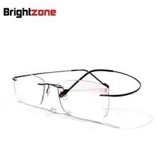 f5ba64ab05 8 colors rimless non-screw memory titanium hingeless flexible eyeglasses  glasses prescription rx spectacle optical