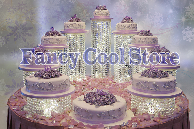 9pcs lot Party Crystal Cake Stand Wedding table Centerpiece birthday     9pcs lot Party Crystal Cake Stand Wedding table Centerpiece birthday  decoration Cake cupcake holder display