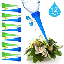 12Pcs/set  Plant Self Watering Adjustable Stakes System Vacation Waterer Automatic Spikes Irrigation
