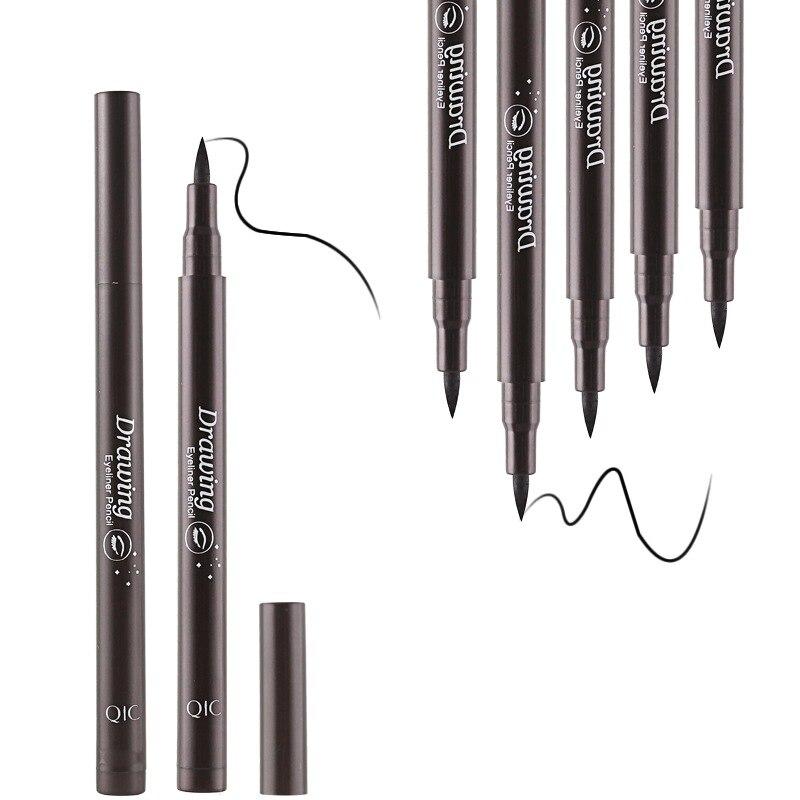 Hot 1PCS Women Black Waterproof Liquid Eyeliner Pencil Eye Liner Pen Cosmetics Make Up Eye Marker Beauty Eyeliner Gift