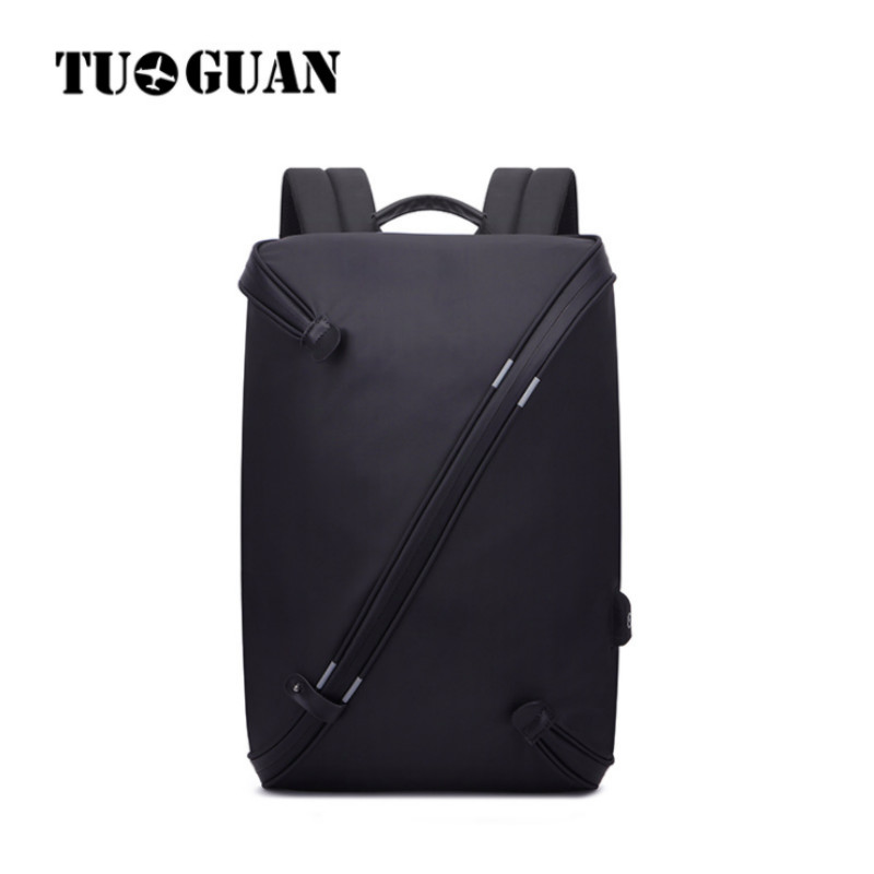 TUGUAN Men Waterproof Backpack USB Charging Anti Theft Zipper Back Pack 15.6 Inches Laptop Bag Schoolbag Computer Bagpack Male