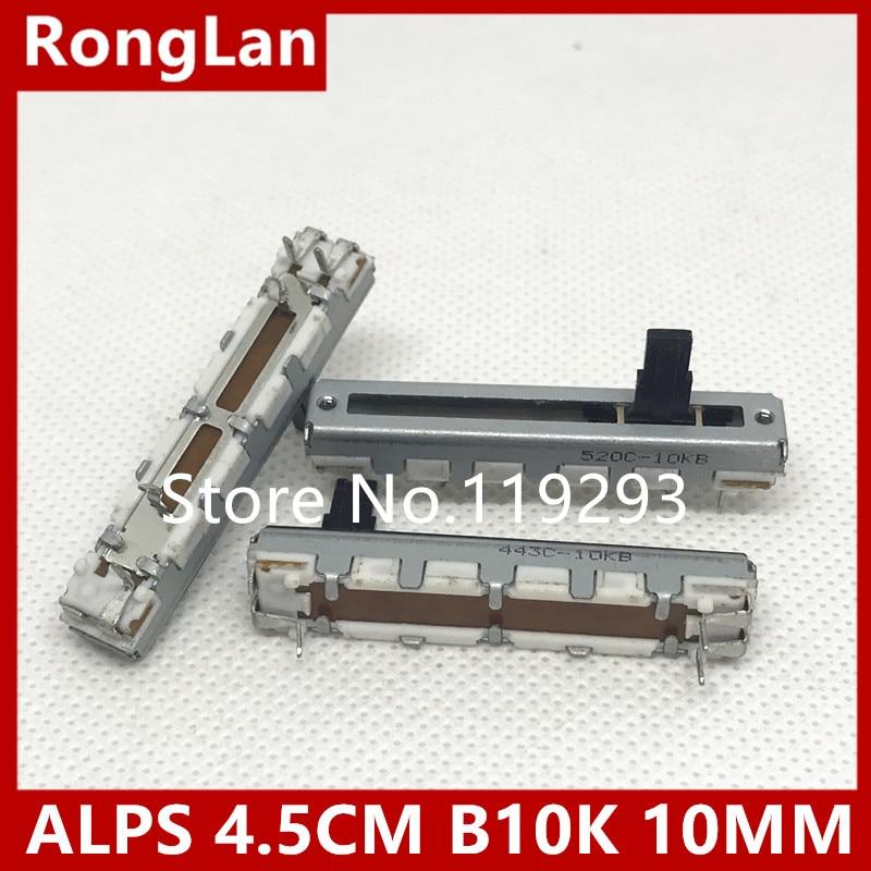 BELLA ALPS 4 5 cm 45MM slide potentiometer single joint B10K 10MM shaft 10PCS LOT