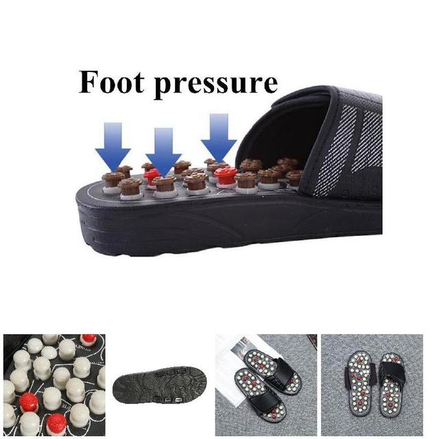 1 Pair Reflexology Sandals Foot Massager Slippers Acupressure Acupuncture Shoes WS99