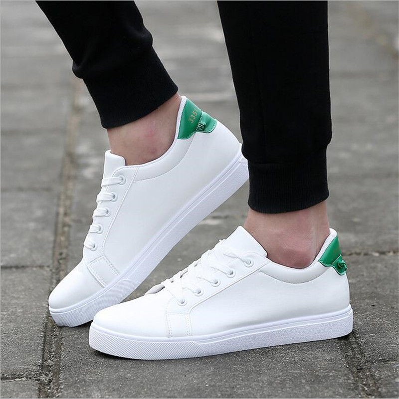 2018 Korean Fashion Casual Couple Shoes Woman Men 5CM Added White Sneakers Flat Shoes Women Tenis Zapatos Mujer Big Size