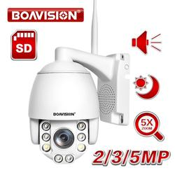 Wifi PTZ IP Camera 1080P 3MP 5MP Super HD 5X Zoom Two Way Audio Wireless PTZ Cam Outdoor 60m IR Video Home Security Camera P2P