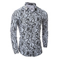 Camisas Promotion Cotton 2016 New Mens Shirt Autumn England Style Classic Camouflage Printed Shirts For Men Navy Casual Slim