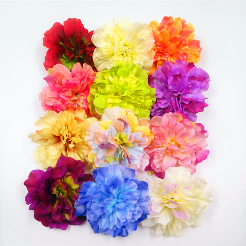 5 PCS (12 cm/a) artificial silk peony flower heads home garden decoration DIY wedding bouquet gift box collage arranging flowers