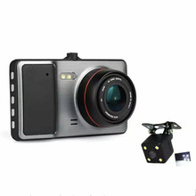 Новый Высший Сорт Мини Камеры Автомобиля с Двумя Объективами Автомобильный ВИДЕОРЕГИСТРАТОР Полный HD 1080 P Видеорегистратор Супер Ночного Видения Тире Cam Автомобиля Черный коробка