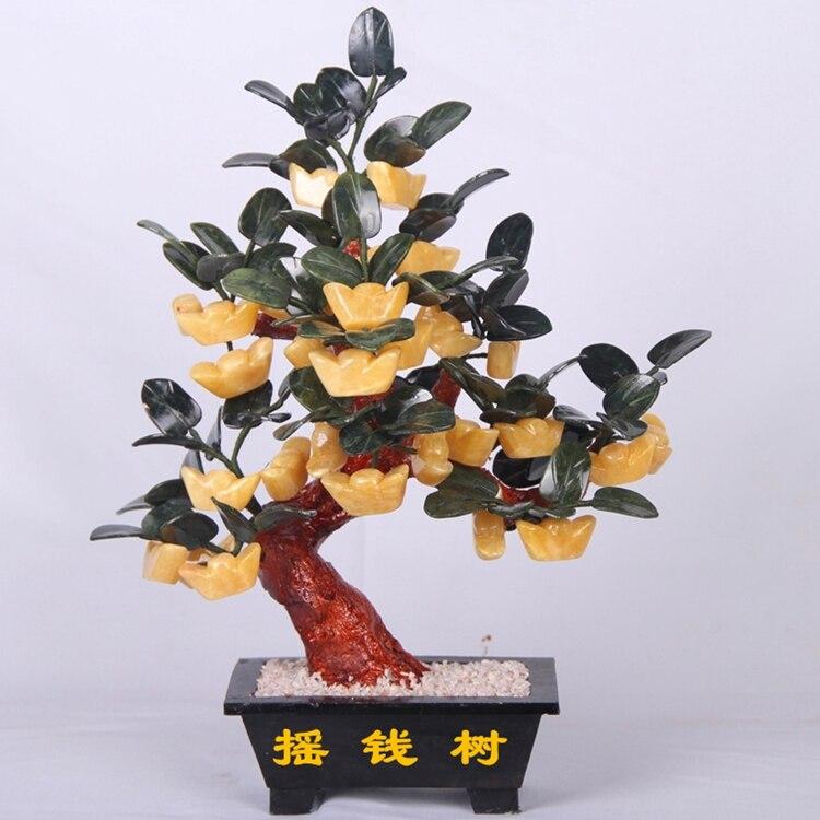 Jade pot 28 yuanbaoshu artware living room decoration rich tree moss Home Furnishing jewelry gift jingdezhen lang jun kiln ceramics antique red censer living room decoration decoration gift home furnishing
