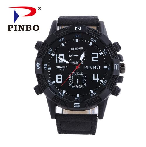 2019 Mens Watches PINBO Brand Luxury Casual Military Quartz Sports Wristwatch Leather Strap Male Clock watch relogio masculino2019 Mens Watches PINBO Brand Luxury Casual Military Quartz Sports Wristwatch Leather Strap Male Clock watch relogio masculino