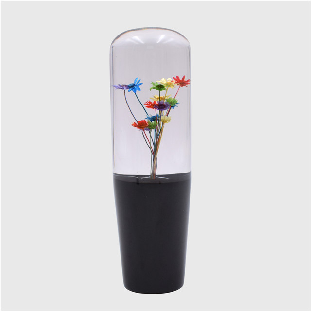 15CM Crystal Bubble Shift Gear Knob With Real Flowers