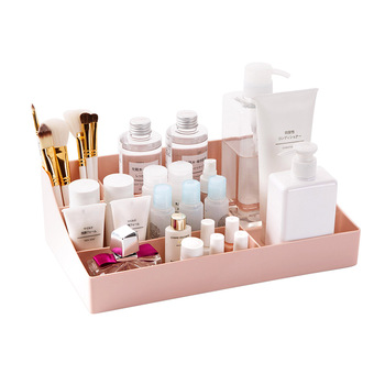 MEYJIG Plastic Makeup Organizer for Storage of Varieties of Beauty Products including Lipstick Makeup Brush Foundation and Skin Care Products