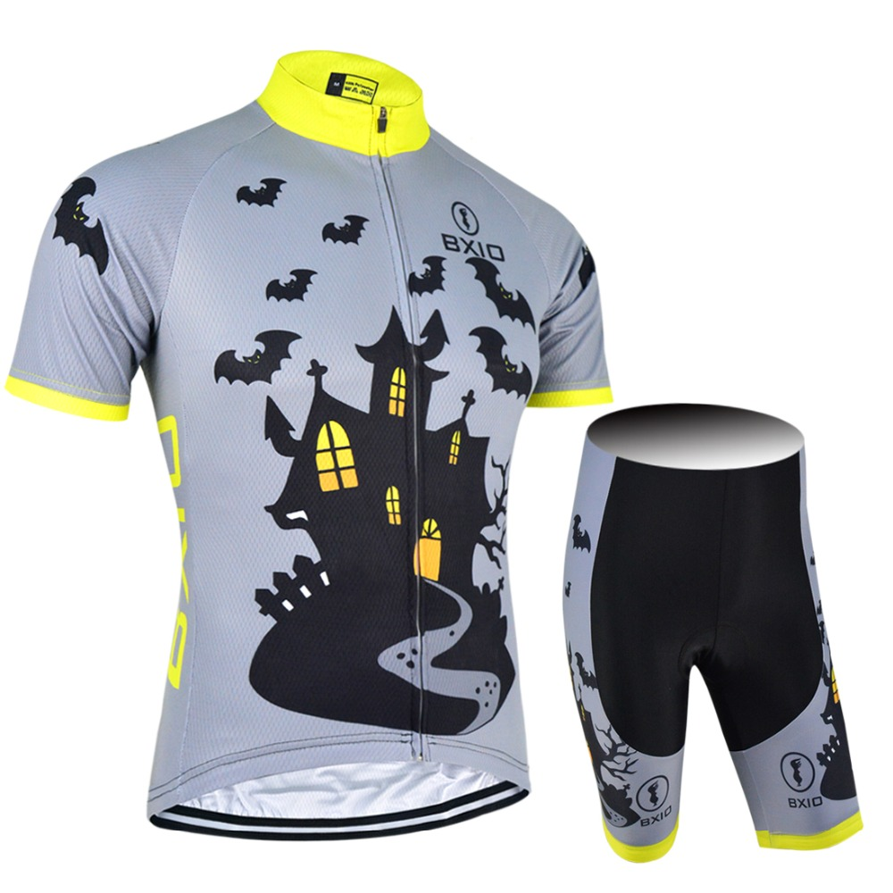BXIO Mens Cycling Jerseys Ropa Ciclismo Hombre Short Sleeve Bicycle Skinsuit Pro Team Summer Cycling Sets Clothing BX-0209E028