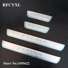4 шт. накладки на пороги для Opel Zafira c для Vauxhall Zafira Tourer c из нержавеющей стали приветственные наклейки на педали для стайлинга автомобилей аксессуары