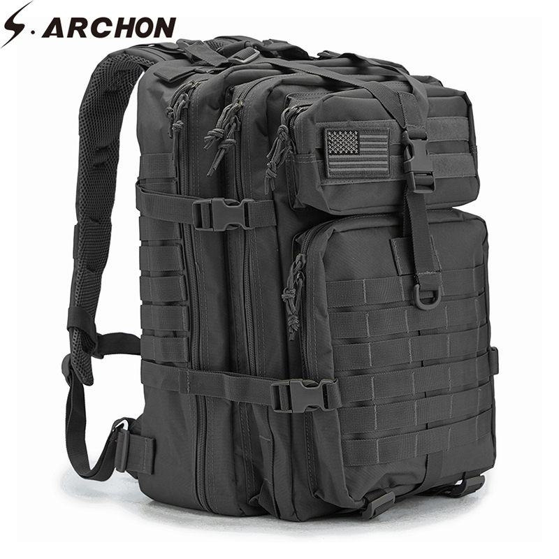 S.archon 34l Military Backpack Assault Pack Large-capacity Army Molle Waterproof Bug Out Bag Multifunctional Battle Bag