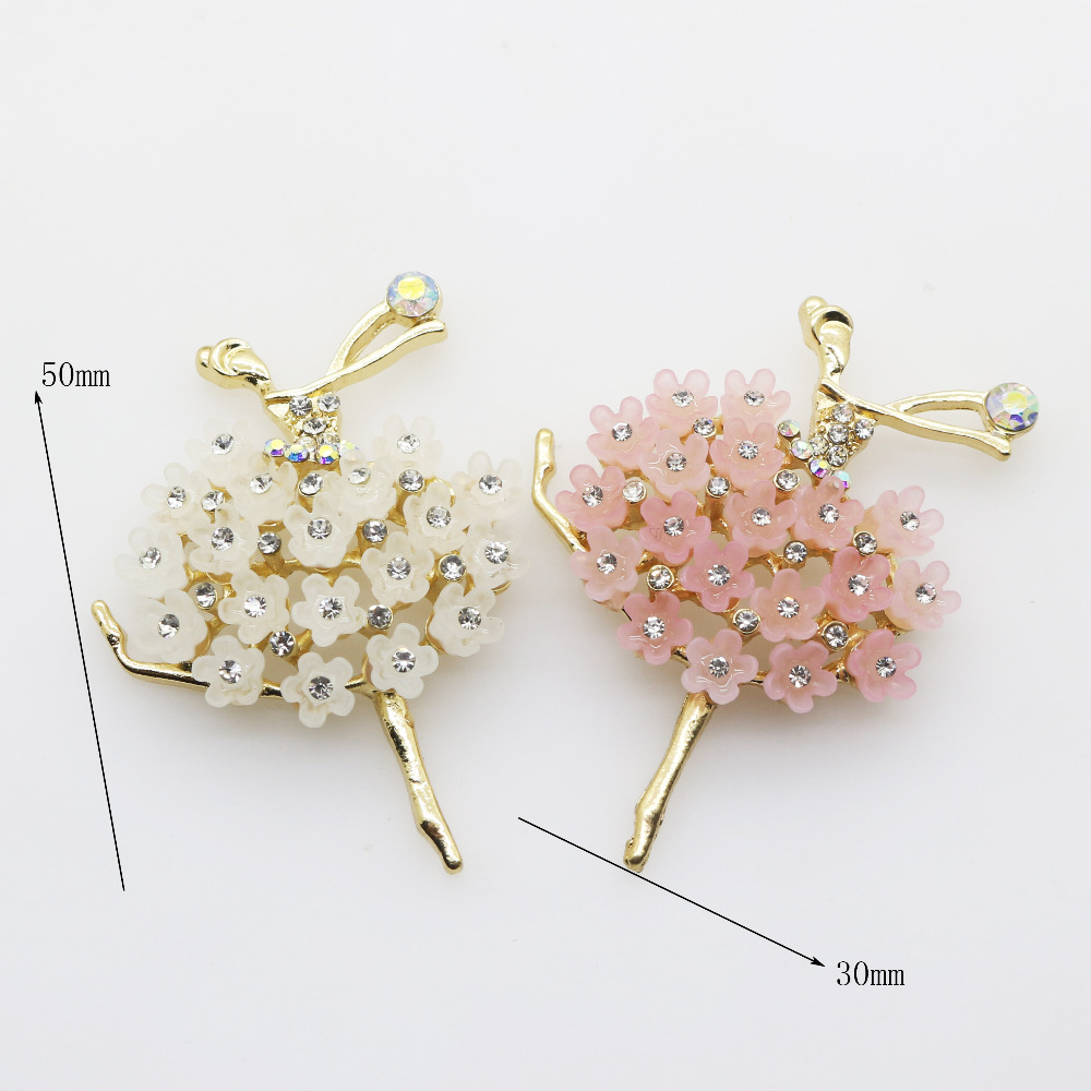 ZMASEY 2pcs/lot Fashion New Beautiful Dance girl <font><b>Buttons</b></font> 30 x <font><b>50MM</b></font> Alloy <font><b>Button</b></font> Diy Jewelry Accessories Decoration Two Color image