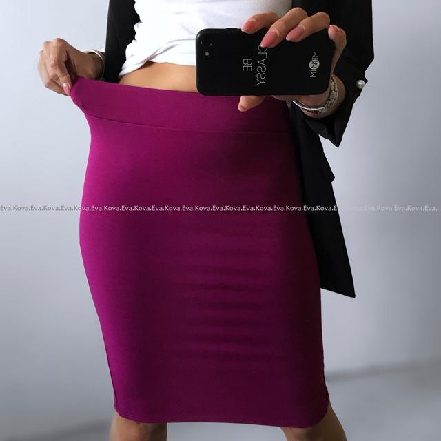 High quality skirts womens 2018 Office Skirt Women Slim Knee Length High Waist Stretch Cotton Straight Pencil Skirts
