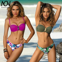 Bikini Set 2019 New Swimsuit Sexy Swimwear For Women Bikini Push Up Pineapple Brooch Shoulder Straps Swim Suit Brazilian Bikini