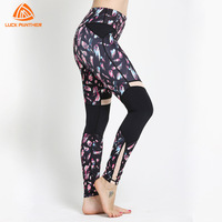 2018 New Women Yoga Pants Print Pattern Quick Drying Gym Fitness Workout Leggings Push Up Running Compression Sports Tights