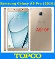 "Samsung galaxy a9 pro 2016 duos a910f original desbloqueado 4g lte teléfono móvil del sim dual 6.0 ""16MP A910F Octa Core RAM 4 GB ROM 32 GB"