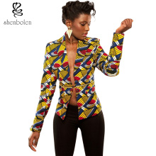 African fashion lady/girl batik fabric jacket female long sleeves spring/autumn coat women individuality design clothes