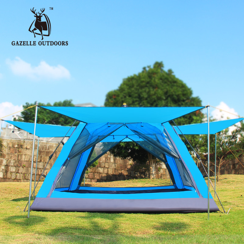 2015 news 3-4 people outdoor tents Double automatic double speed to open professional camping tent biifree мужчина с длинным рукавом плед рубашка 100