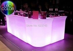 Lichtgevende LED Bar SL-LBC8301, PolyDeco Bar, LED Bar Tafel JUMBO waterdicht, oplaadbare Rundbar LED Bartresen meubels