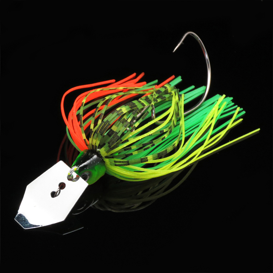 1PCS Buzz Bait Fishing Lure Lead head 10g Fishing Bait Metal Spoons Spinner Bait with Crank Hooks Fishing Lures цена и фото