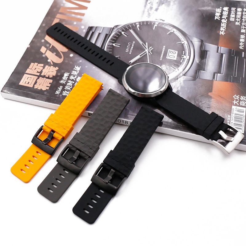 Watch accessories silicone strap men for suunto9 Spartan speed outdoor photoelectric baro rubber expedition watch band