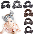 Elastic Headbands for Baby Girls Hair Barrettes Accessories Bandage on Head Children's Headwear Leopard Dots Bow Tights 2016 New