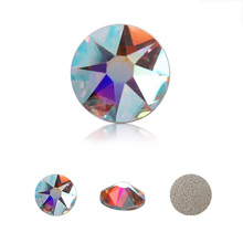 Clear AB Rhinestones 8 Big+8 Small Glass Rhinestone Flatback Crystal Stone Nail Art Decoration Non Hotfix Strass for Garment