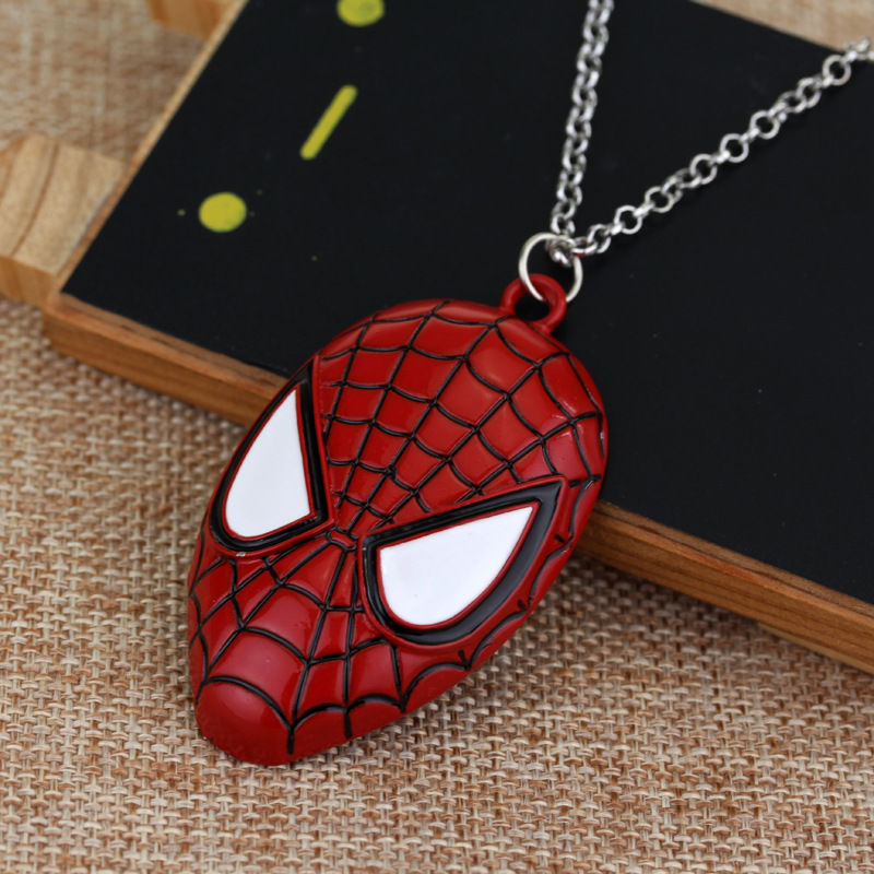 Movie Accessories 2019 New Spider Man Mask Fashion Jewelry Pendant 4 Color Magic Spider Man Mask Necklace Men 39 s Necklace Pendant in Pendants from Jewelry amp Accessories