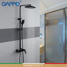 цена на GAPPO shower Faucets black bathtub faucet 3 function stainless steel rainfall shower set mixer tap mixer bathroom faucet mixer