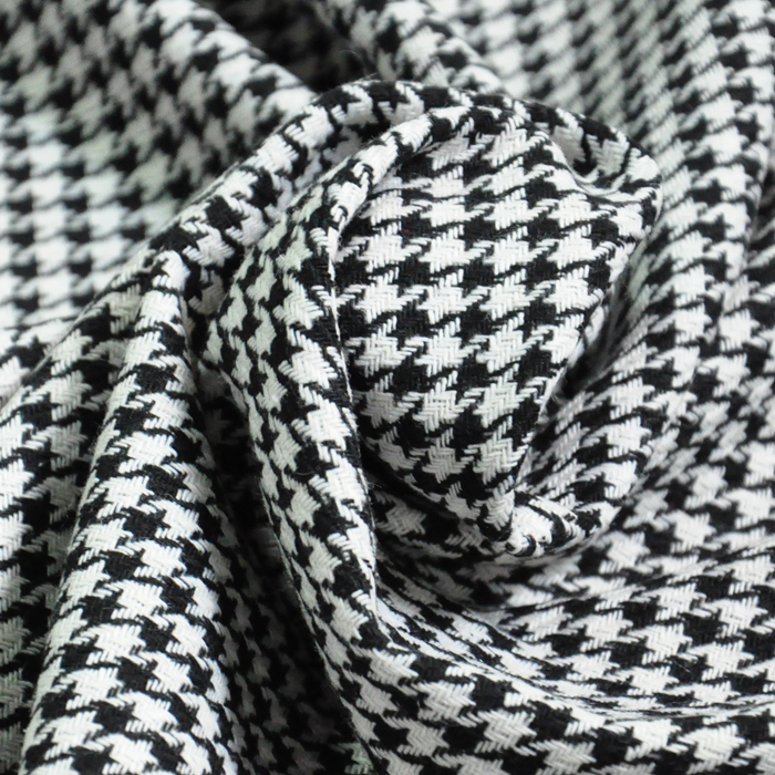 1 Meter Tweed Grid Fabrics150x100cm Black White Plover Prints Woolen Rough Cloth Tissue Fabric For Sewing Diy Garment In From Home