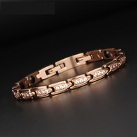 Magnetic Therapy Rose gold Jewelry Middle East Hematite Power Healing Bracelets Healthy Jewellry for Lady Women
