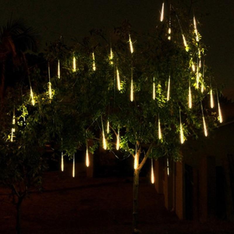 Led Solar Lamp Meteor Rain Lights Outdoor Waterproof Christmas