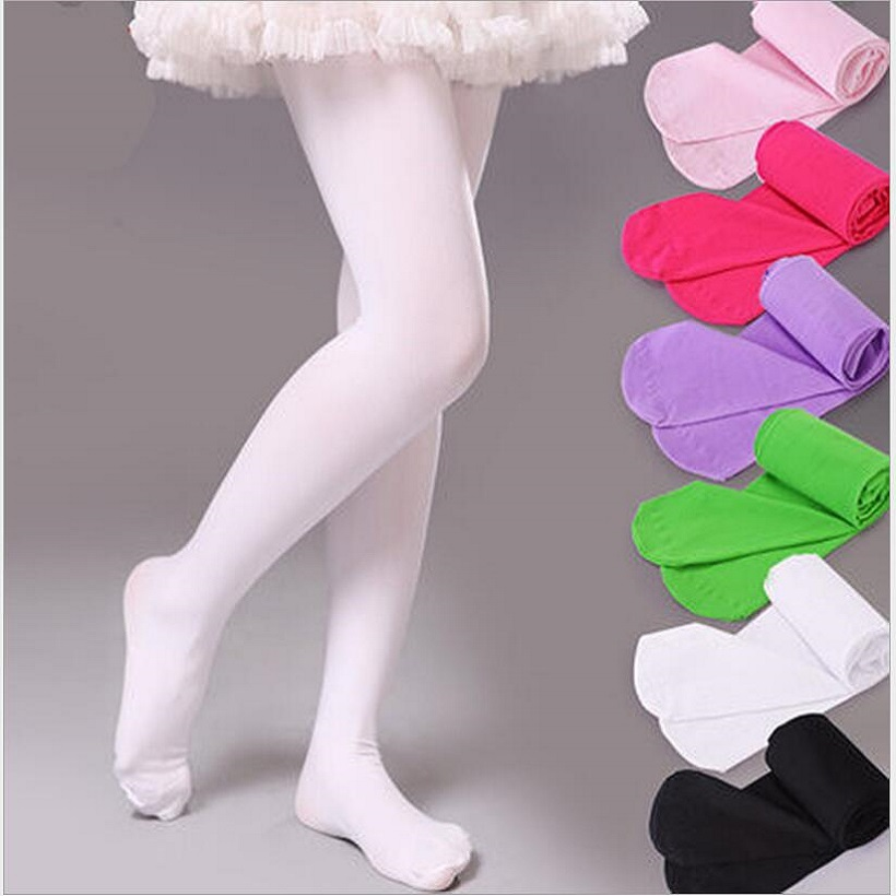 Pink Candy Color Children Tights For Baby Girls Kids Cute Velvet Pantyhose Tights Stockings For Girls Dance Tights