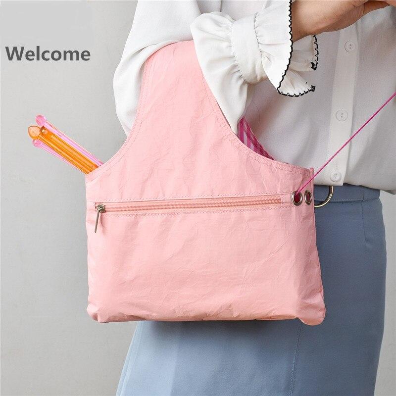 Knitting Tote Bag Yarn Organizer Eco-friendly Storage Bag For Yarn Sewing Tools