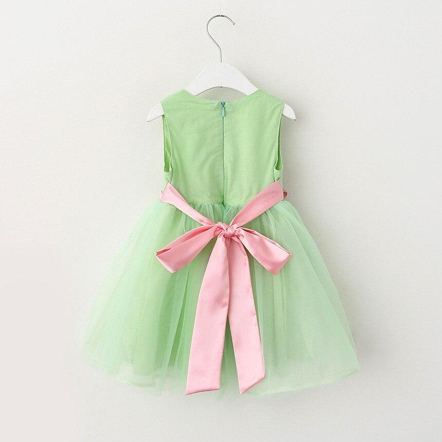 VIMIKID 17 New Girls tutu dress + belt flowers gauze children princess vest dress Girls lace dress kids clothes pink purple 14