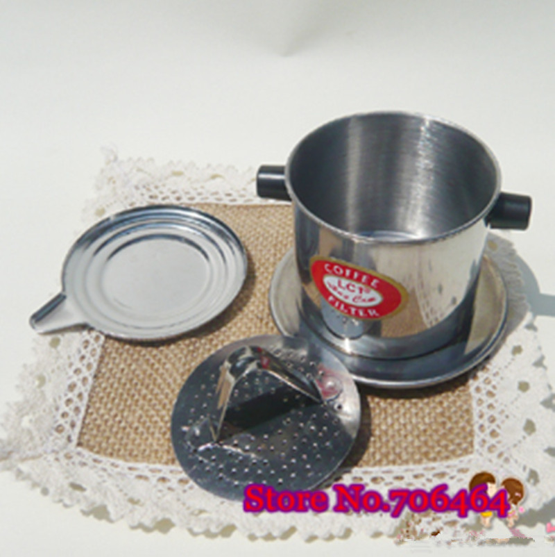 Filter Coffee Maker Manual : Free shipping Vietnam drip coffee maker manual classic Vietnamese drip filter coffee pot V Push ...