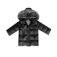 Big Fur Warm Winter Girls Jackets Coat Thickened Children Cotton Jacket Winter Girl Clothing Black And Red Kids Blouse Boy Cloth