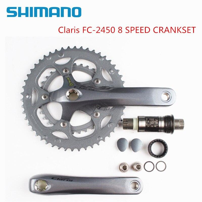 Pédalier vélo de route Shimano Claris 2400 2450 8 vitesses 170mm 50 t 34 t Octalink avec support inférieur