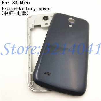 6963587ef55 Nuevo Medio placa marco bisel para Samsung Galaxy S4 mini i9190 i9192 i9195  medio Placa de Marco carcasa trasera + cubierta de la batería
