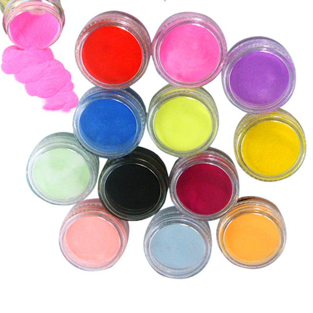 12 Colors Acrylic Powder Dust Nail Art