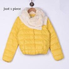 1 шт. желтый цвет осенняя куртка женские пальто искусственный воротник Женская парка