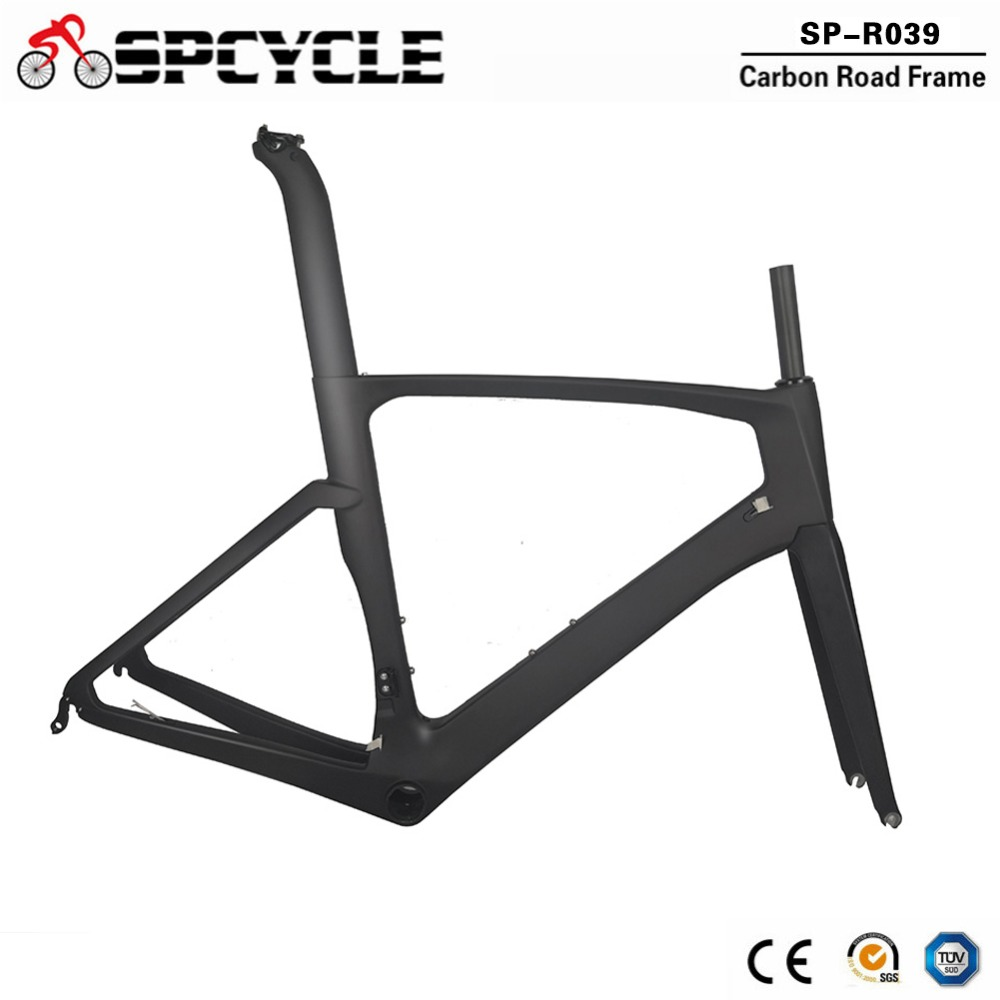 Spcycle 2019 New T800 Full Carbon Road Bike Frame Aero Carbon Road Racing Bicycle Frameset TT Frames 2 Year Warranty