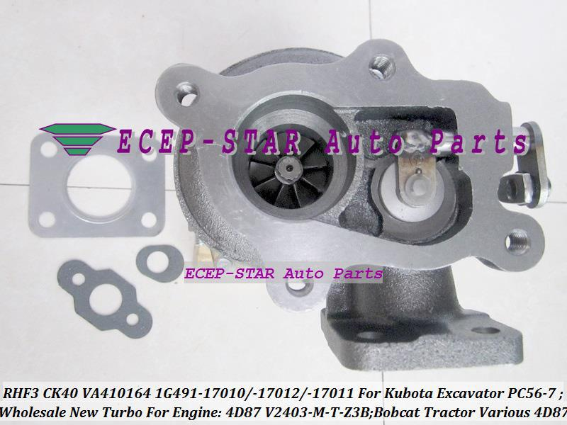 TURBO RHF3 CK40 VA410164 1G491-17011 1G491-17012 1G491-17010 Turbocharger For Kubota Excavator PC56-7 Bobcat Tractor 4D87 V2403-M-T-Z3B (2)