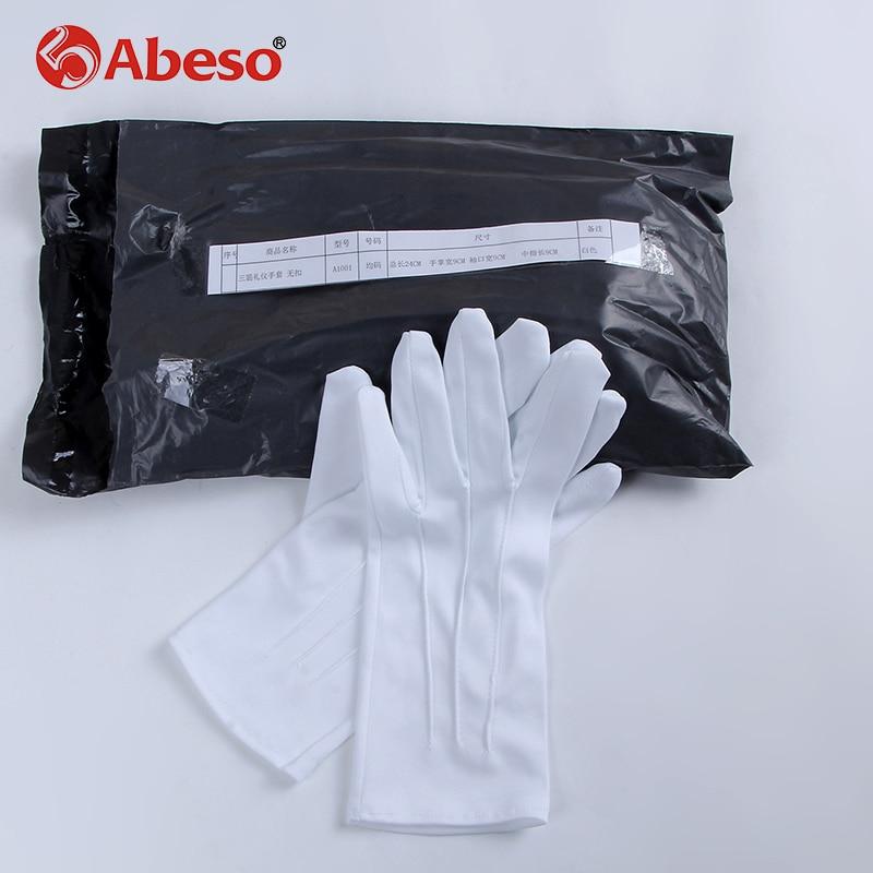 ABESO 10Pairs Beli dacron Svečane rokavice voznik Magician Server - Varnost in zaščita - Fotografija 5