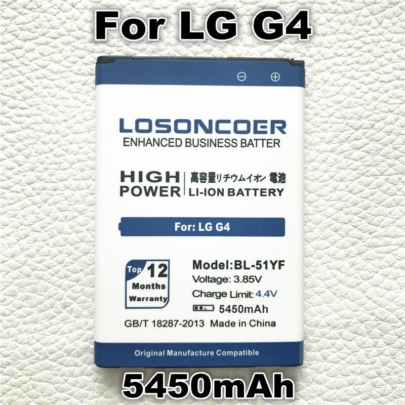 imágenes para LOSONCOE 5450 mAh Batería Del Teléfono Para LG batería G4 H815 BL-51YF H818 H819 VS999 F500S F500K F500 F500 V32 BL Teléfono 51YF BL51YF