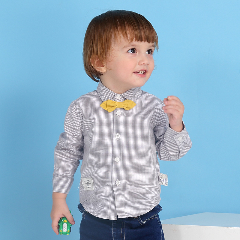 Fashion Baby Boys Red Plaid Polo Shirts Toddler Kid Long Sleeve Pure Cotton Casual Sports Tops Tees School Uniforms for Children
